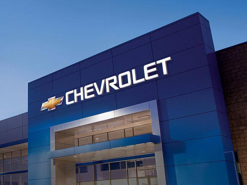 Building with Chevrolet Logo