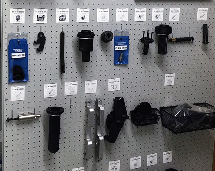 Organized Tools on Panels