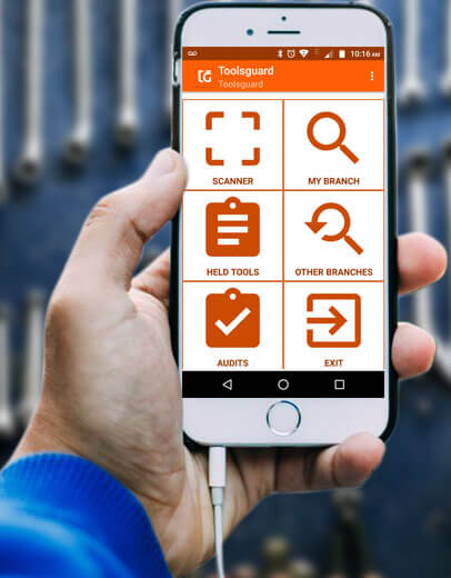 Toolsguard App Loaded on Mobile Phone