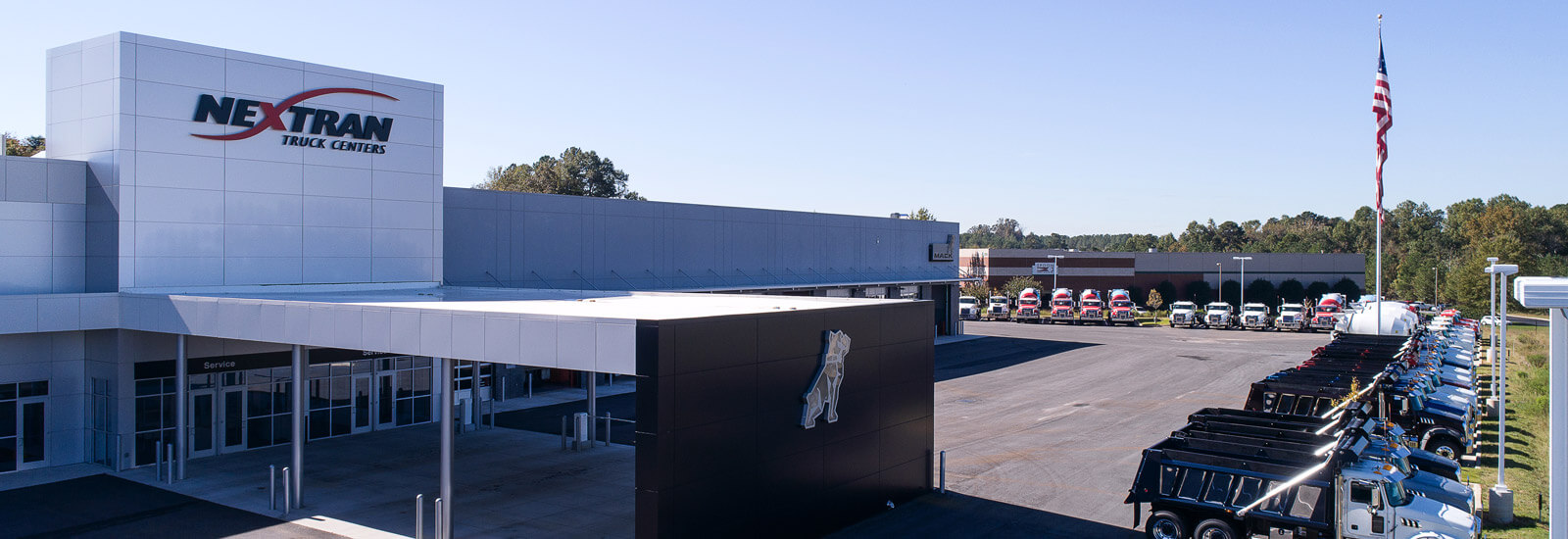 Outside View of Nextran building & Trucks