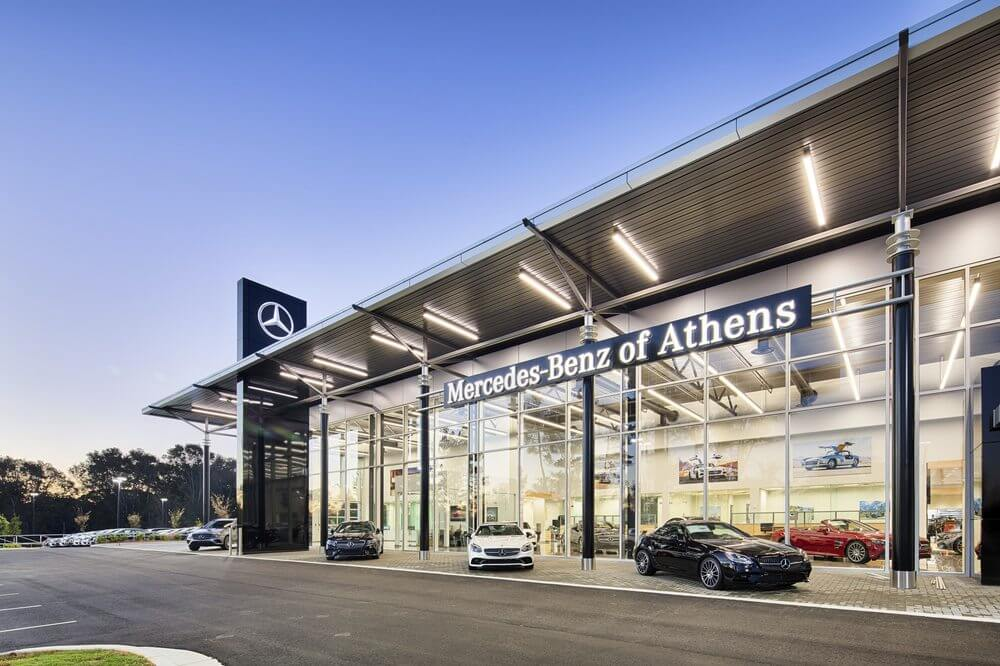 Outside view of Mercedes-Benz of Athens Dealership