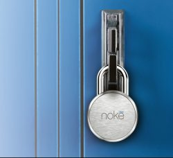 Noke Standard Padlock Fastened to Door